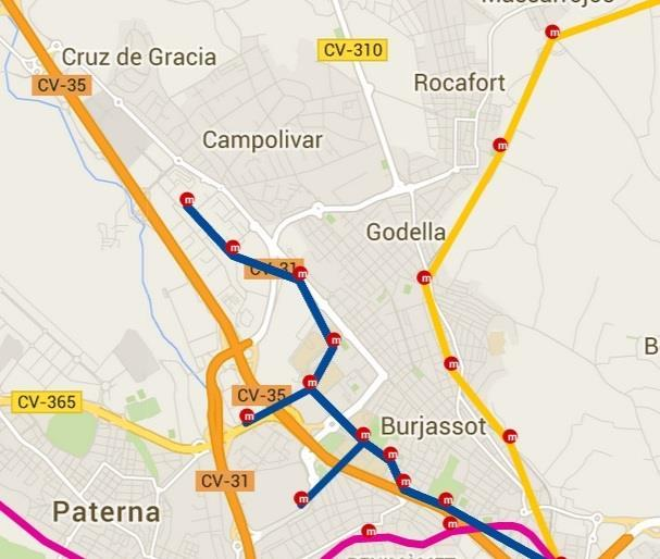 Subway urbanizations godella