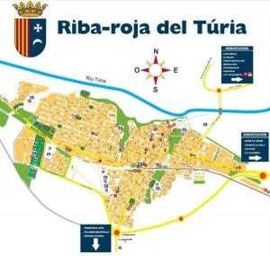Map of Riba-roja del Turia with urbanizations