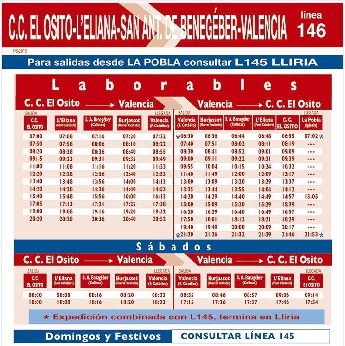 Bus San Agustín Valencia