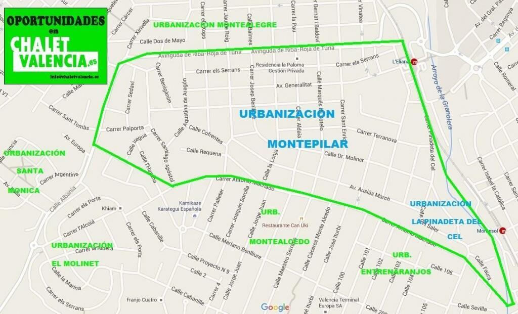 Mapa urbanización Montepilar La ELiana