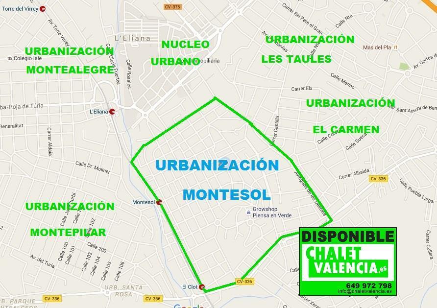 Mapa Urbanización Montesol