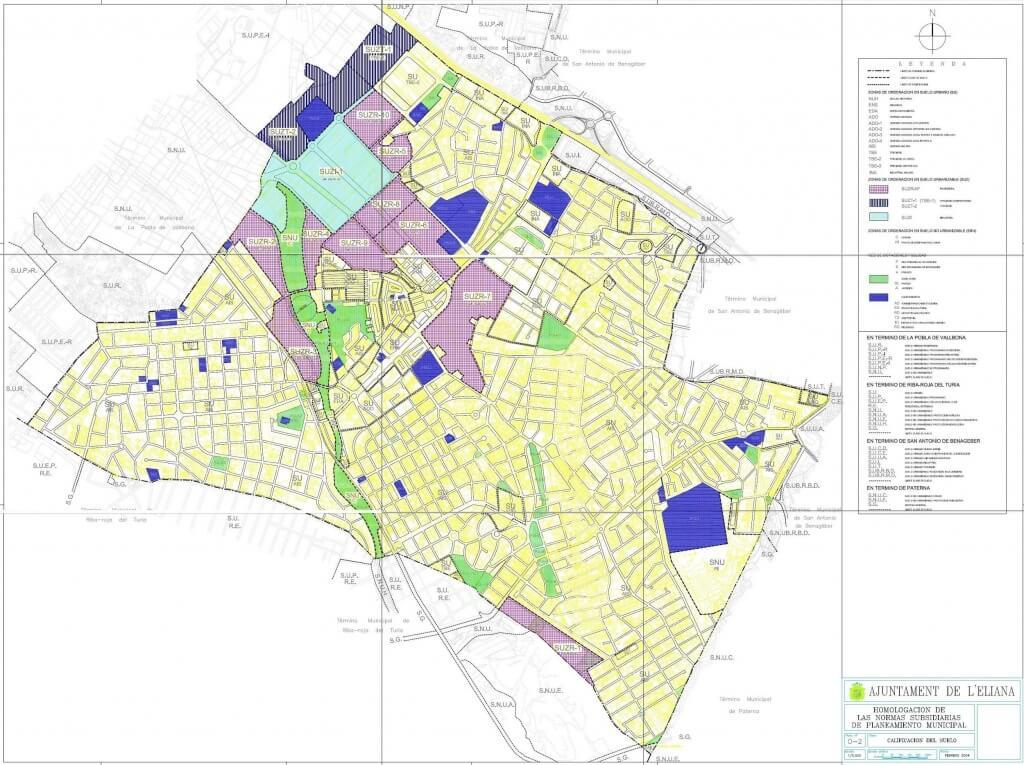 urban classification map L'Eliana Valencia