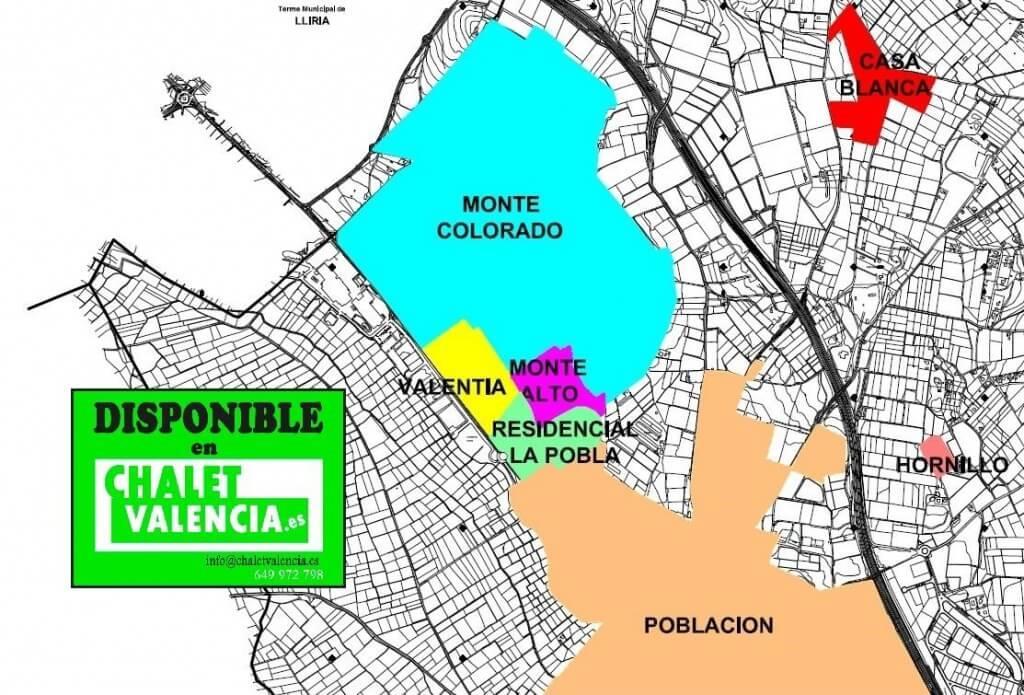 Mapa urbanización Montecolorado