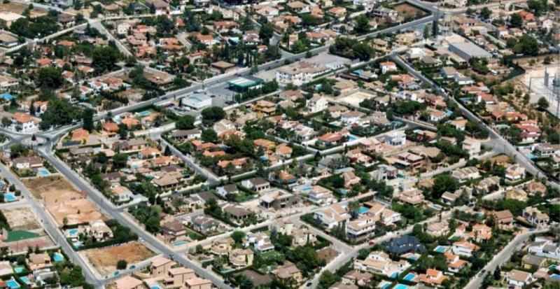 Urbanización Entrepinos desde el aire