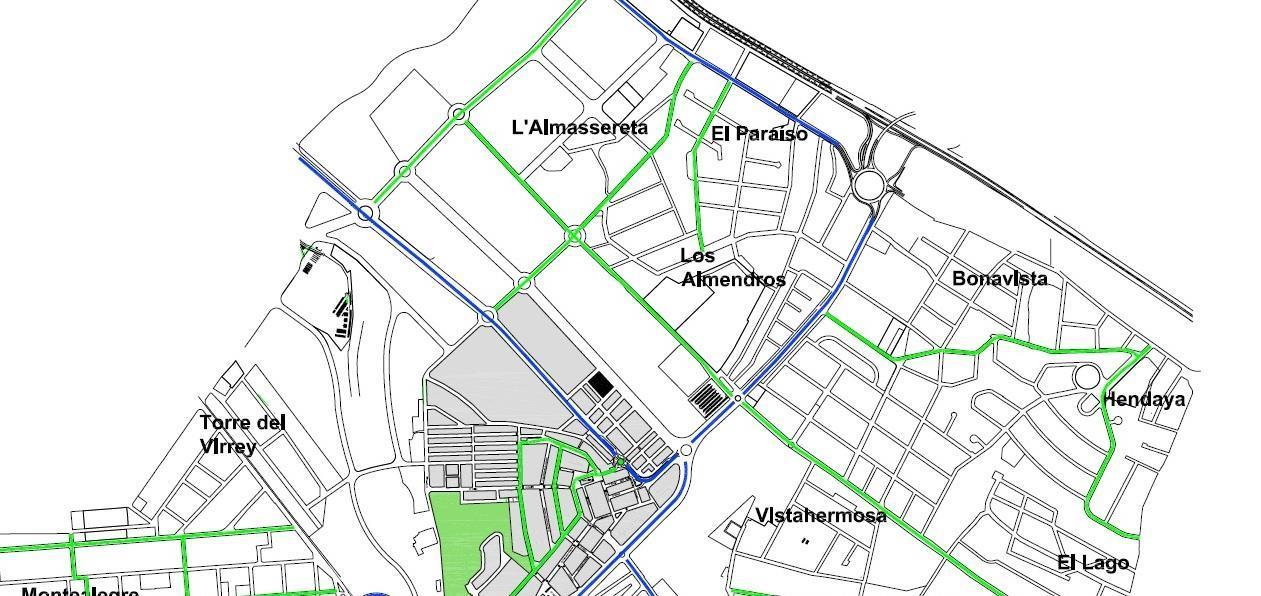 Mapa tráfico urbanización El Paraíso La Eliana Valencia