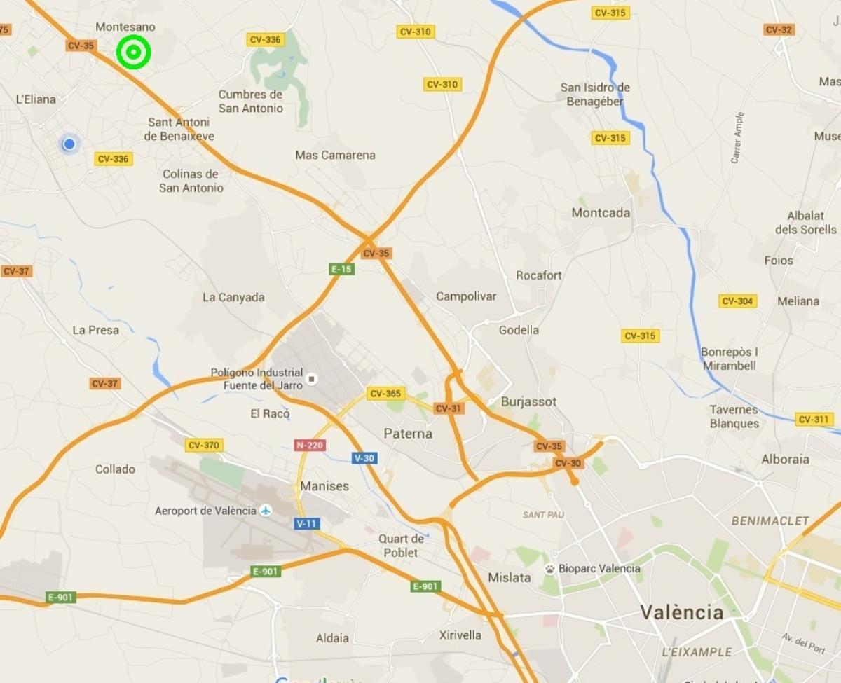 Ubicación parcela esquinera urbanizacion Montesano