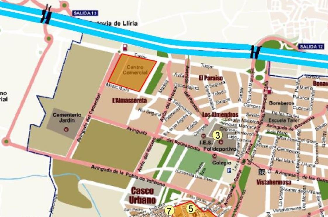 Mapa urbanización El Paraíso