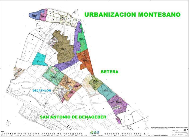 Mapa Montesano San Antonio de Benageber