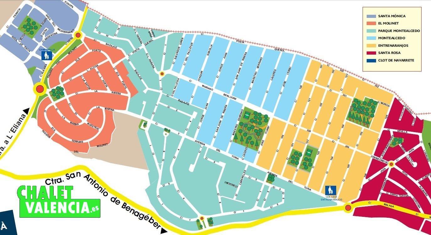 Mapa Parque Montealcedo