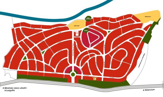 Mapa Masía de Traver Ribarroja