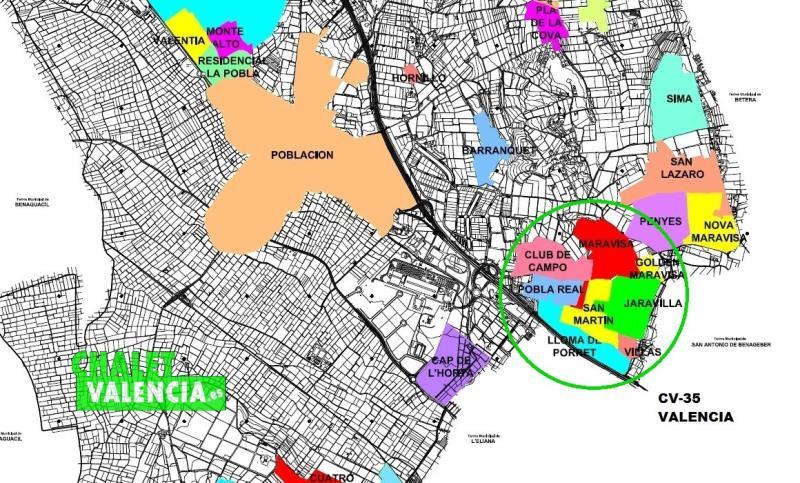Zona Urbanización Maravisa La Pobla de Vallbona