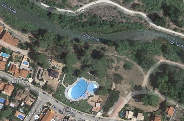 Vista aerea Masia de Traver Ribarroja