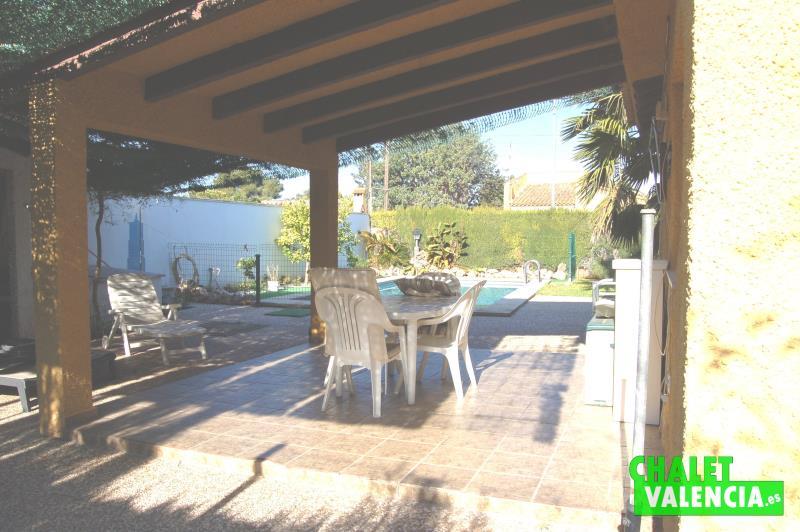 Terraza chalet a la venta Montesol La Eliana