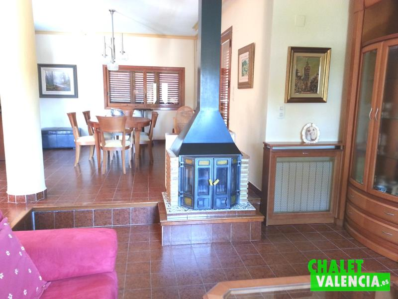 Salón chimenea alquiler La Eliana Valencia