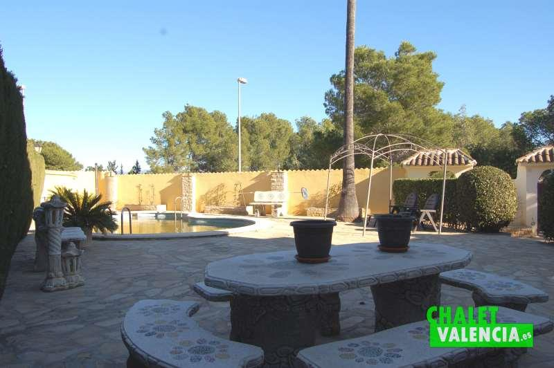 Zona piscina chalet independiente