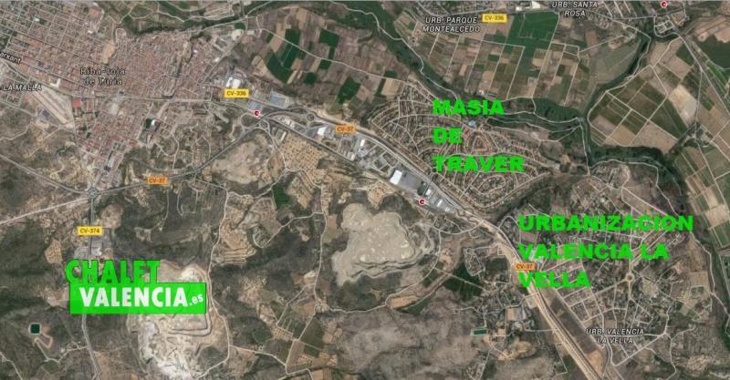 Mapa urbanización Valencia Vella Ribarroja