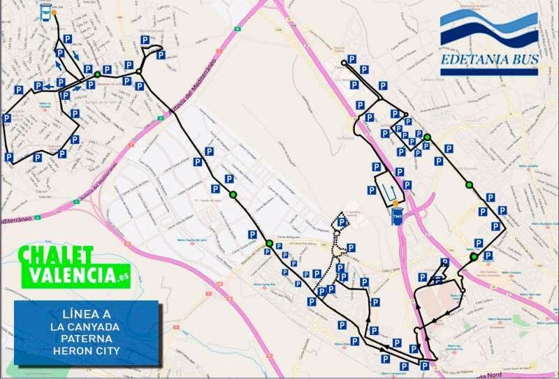 Servicio público transporte Paterna