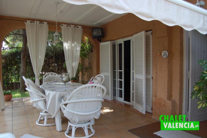 Terraza chalet pareado Colinas San Antonio Valencia