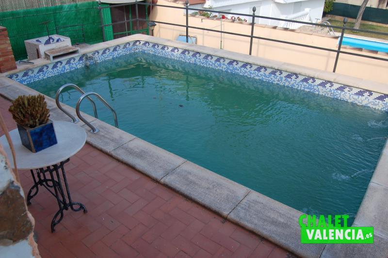 Piscina chalet veraneo Pobla Vallbona Valencia