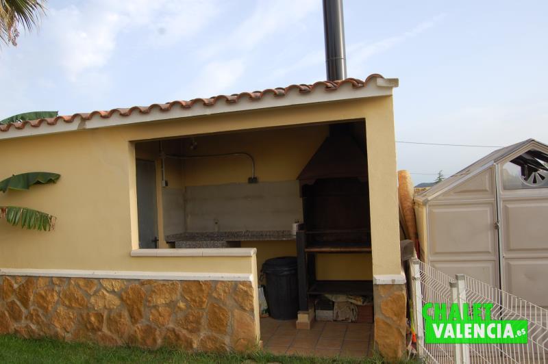 Paellero chalet Mas Nou La Pobla Valencia