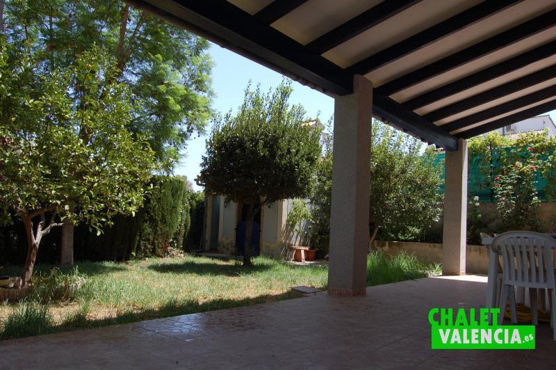 Terraza chalet en venta Masía Traver Valencia