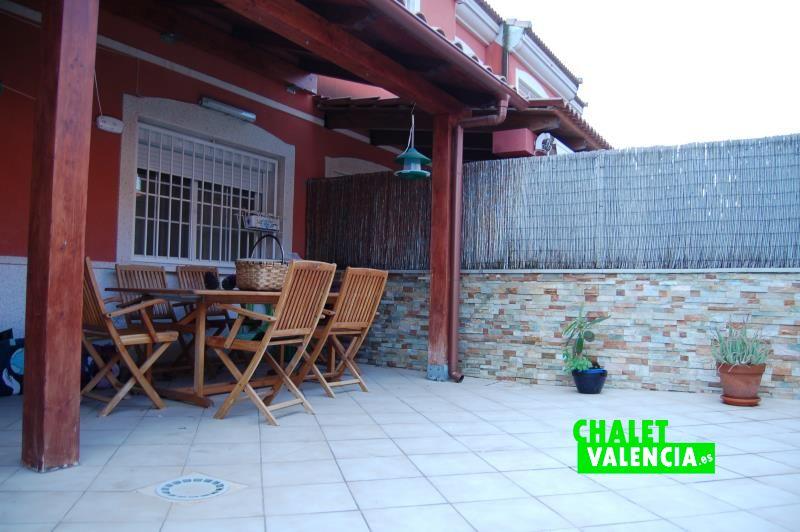 Zona privada del chalet adosado Vista Calderona