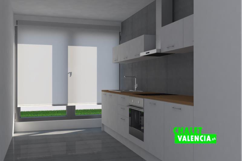 Diseño virtual de la cocina del chalet de obra nueva en Bétera
