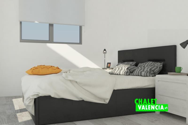 Imagen virtual de las habitaciones del chalet