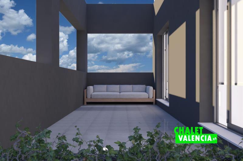Imagen virtual de la terraza de las suite