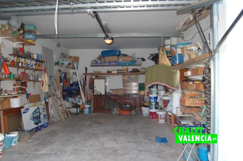 Garaje cubierto chalet la Eliana Valencia