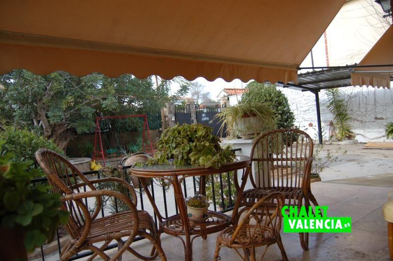 Terraza principal chalet Montesol La Eliana