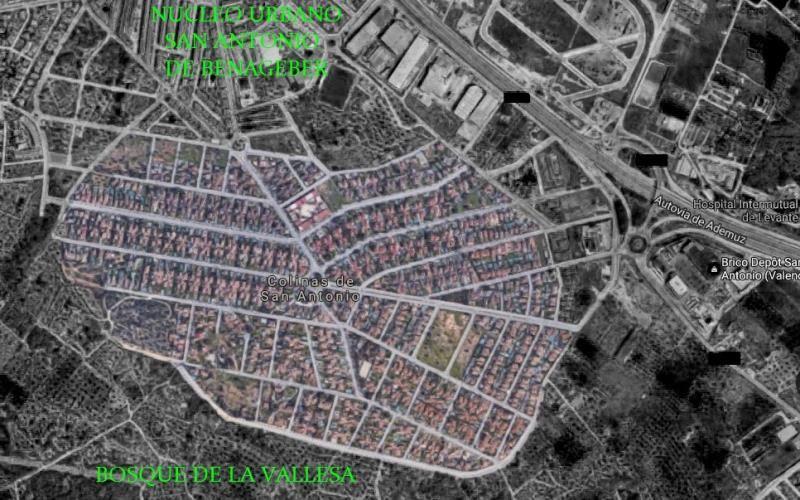 Mapa ubicación urbanización Colinas de San Antonio