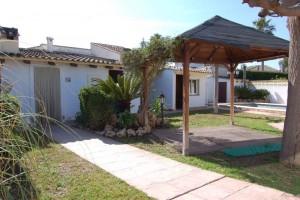 Jardín, piscina, cenador y zona paellero