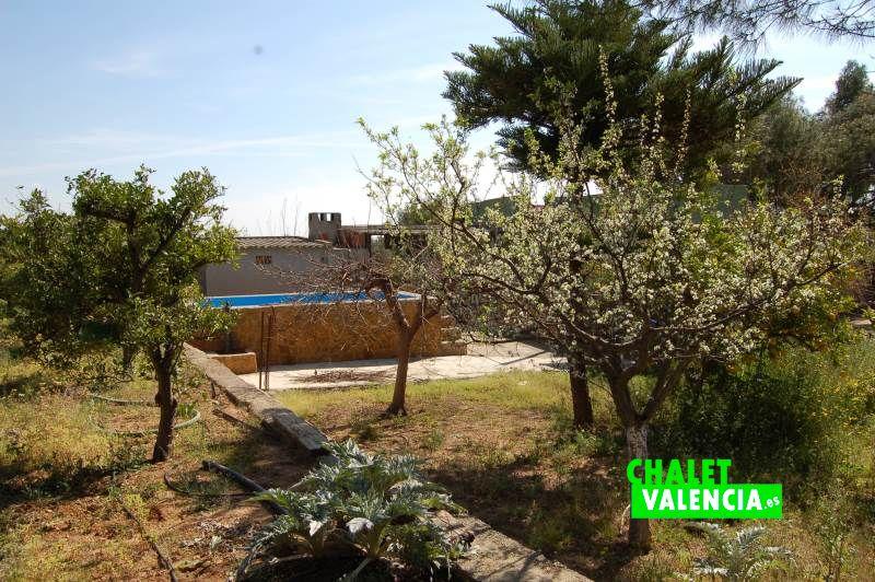 Campo de frutales junto piscina chalet aislado