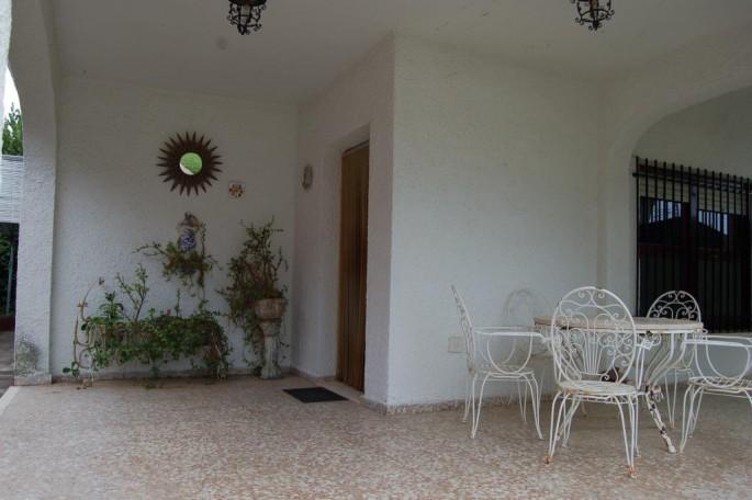 Terraza principal chalet Entrepinos La Eliana