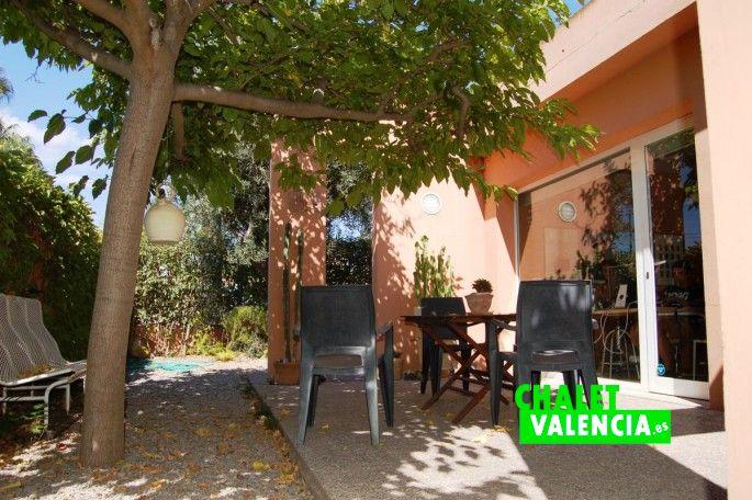 Terraza chalet loft para oficina Valencia