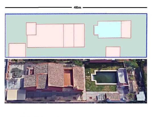 Plano chalet Colinas San Antonio