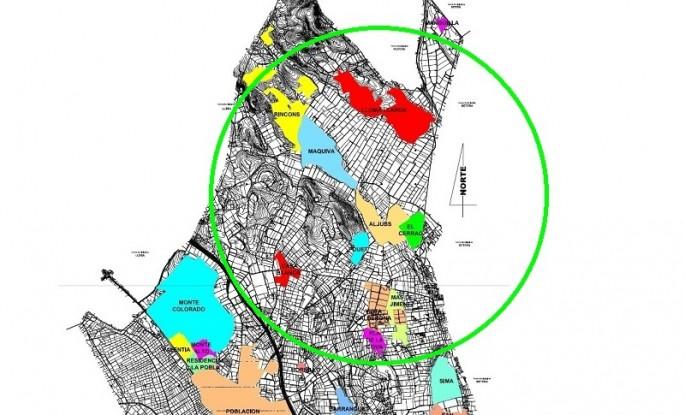Mapa urbanizaciones zona Norte La Pobla Vallbona