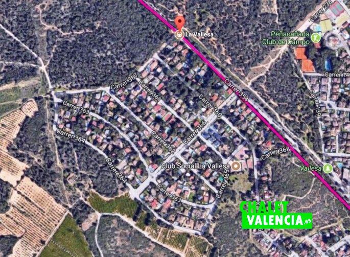 Parada de Metro en La Vallesa