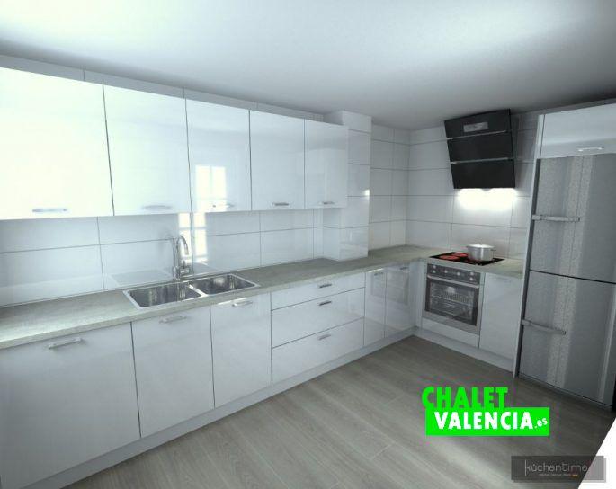 Render cocina nueva promoción Vista Calderona