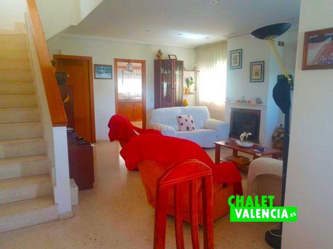 Salón comedor con chimenea La Eliana