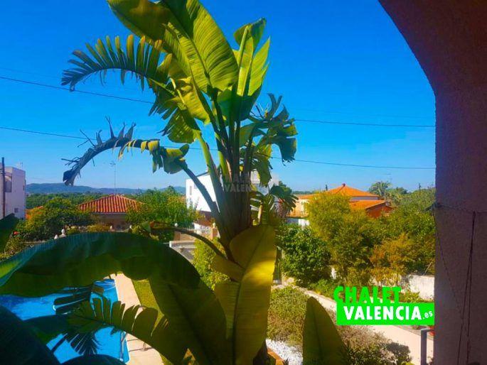 Vistas desde terraza chalet Montesol La Eliana