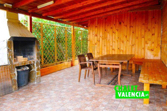 Porche casa de madera