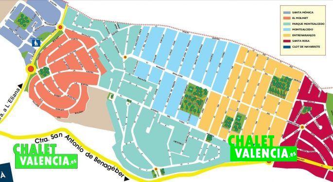 Plano urbanizaciones zona Parque Montealcedo