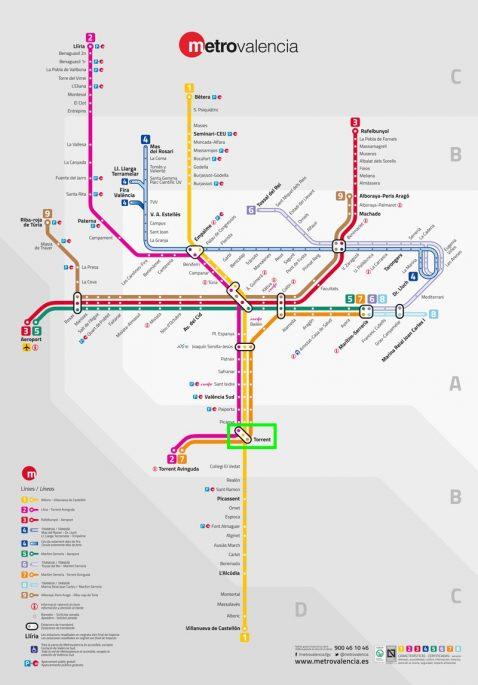 Metro Valencia urbanizaciones Torrent