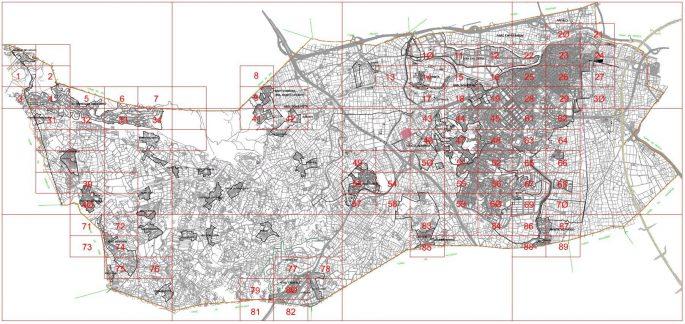 Plano guia urbanizaciones Torrent