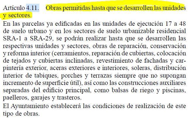 Artículo 4.11 PGOU Lliria
